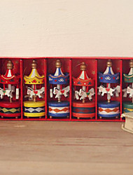 Bois Merry-go-round de souvenir - Ensemble de 6 pièces