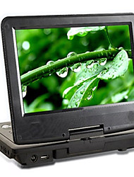 Lecteur de DVD portable de 7 pouces à écran ACL large de fonction copier + (hv21)