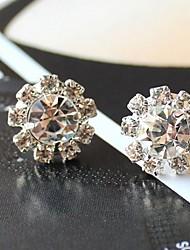 J & G Eenvoudige Zonnebloem Shape Zircon Stud Earrings