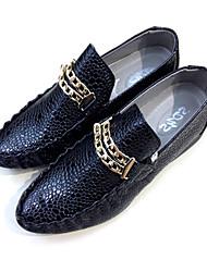 Кожаные мужские плоский каблук Комфорт Мокасины Обувь