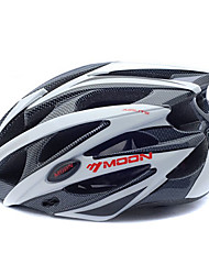 MOON Women's Men's Bike Helmet 25 Vents Cycling Cycling Mountain Cycling Road Cycling Medium: 55-59cm Large: 59-63cm PC EPS