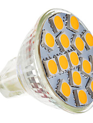 5W GU5.3(MR16) LED Spotlight MR11 15 SMD 5050 250-280 lm Warm White AC 12 V