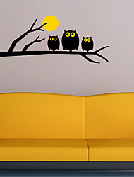 Owls Moon Wall Sticker