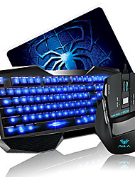 AULA Wired USB Optical Gaming KeyBoard Mouse Kit with Mousepad