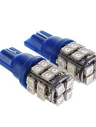 Ampoule 28x3528SMD T10 0.72W 50LM lumière Bleu LED pour la voiture (12V, 2 pcs)