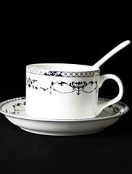 Classic Floral Coffee Mug,Porcelain 5oz