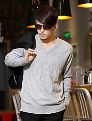 Men's 55% Wool Sweater Mao Chun Solor Geometry Group V is Gotten