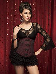 Jacquard chinois fermoir corset shapewear