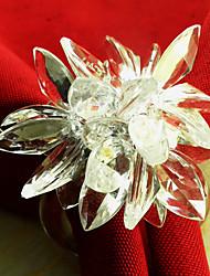 Kristall-Lotus-Hochzeit Serviettenring Set 12, Acryl Dia 4,5 cm
