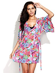 RELLECIGA Women's Floral Print Beach Mini Dress