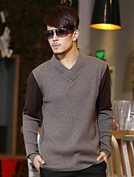 Мужская 55% шерстяной свитер свитер с V-образным 2 Цвет Цвет