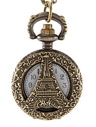 Mulheres Relógio de Moda Quartzo Lega Banda Torre Eiffel Bronze Bronze