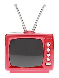 Portable TV Forme stéréo Music Player Mini haut-parleur avec Radio FM TF carte USB (HY-TV01)