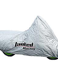 Tanked Racing PVC Matériel de moto Anti-UV antigel imperméable à la poussière de couverture extérieure (Argent)