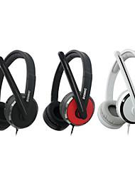 PC566 Somic Juegos de moda colocar sobre la oreja con micrófono y remoto para PC