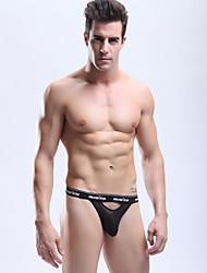MANVIEW Men'S Black Sexy Transparante Mesh G-Strings & Thongs Ondergoed