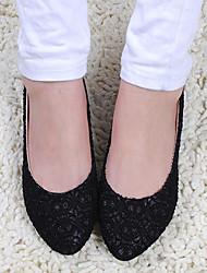 Funkelnde Pailletten Yangguangjiemei Luxus Party-Schuhe (schwarz)