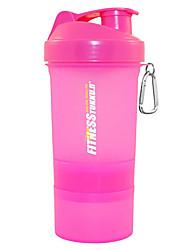 Proteína em pó 500ml Shaker Bottle, cor aleatória