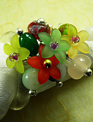 Colorful Wedding Napkin Ring Set of 6, Pearl Beads Dia 4.5cm