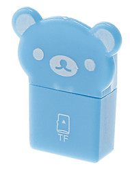 Mini USB Memory Card Reader (Blauw)