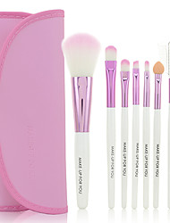 Make-up For You® 7pcs Makeup Brushes set Portable/Limits bacteria Pink Blush brush Shadow/Eyeliner/Lip Brush Makeup Kit Cosmetic Brushes
