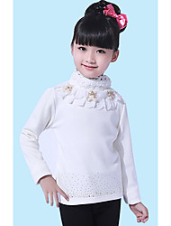Girl's Jacquard Tee,Cotton All Seasons Black / White