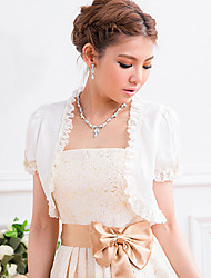 Short Sleeve Chiffon&Lace Party/Evening Evening Jackets/Wraps(More Colors) Bolero Shrug