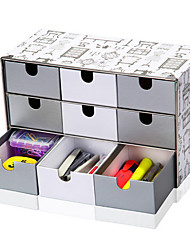 Modern Grey 9 Girds Paper Storage Cabinet