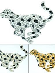 Запуск Leopard Брошь протяжки Pin с Кристалл