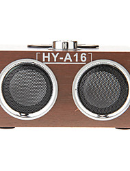 Holz Mini-Stereo-Musik-MP3-Player Lautsprecher TF-Karte USB-FM-Radio (HY-A16)