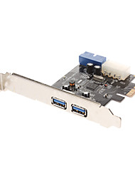 Extend with 2 USB 3.0 downstream ports and 1 USB3.0 20-pin Connector with  4 pin IDE POEWER Connector(NEC720201) Low Profile Bracket