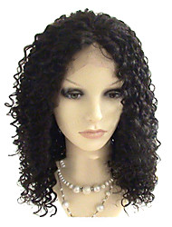 14inch Brazilian Virgin Hair Full Lace Wig Afro Curl Natural Black Dyeable