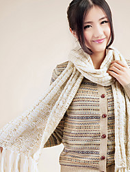Xiaerbeiluo Simple Knitted Scarf(Cream)
