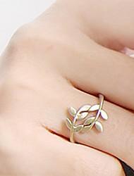 Mujeres Precioso hojas de patrón de timbre de la aleación