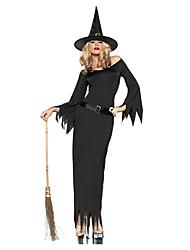 Festa di Carnevale Costume crudele strega donne nere poliestere