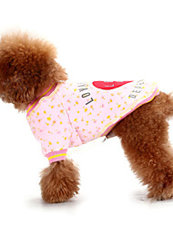 Cute Heart Love Me Pattern Warm T-Shirt for Pets Dogs (Assorted Colors, Sizes)