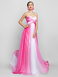 A-Line Sweetheart Floor Length Chiffon Prom Formal Evening Military Ball Dress with Ruching Criss Cross by TS Couture®