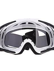 Motorcycle Motocross Ski Racing Goggles (White)