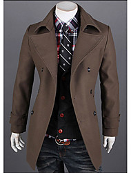 V's Simple Fashion Lapel Jacket(Coffee)