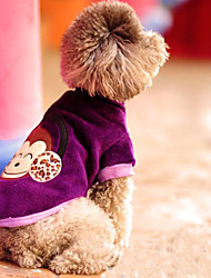 Madden Warm Affe Muster Hundebekleidung (Purple)