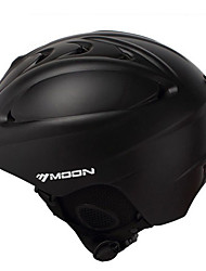 MOON Unsiex Matte Black Fall/Winter ABS Ski/Snowboard Helmet