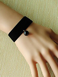 Reina Oscura Perla Negro Gothic Lolita pulsera