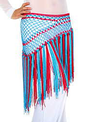 Belly Dance Long Tassels Double-Color Chinlon Triangle Hip Scarf(5 Colors Available)
