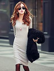 Women's Dresses , Cotton Blend Meifei