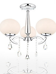 SL® Elegant Modern Crystal 3 Light Chandelier