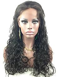 "Acessível 22 Lace Front ""Malásia Curly indiano de 100% Remy cabelo humano Lace Wig-5 cores para escolher"