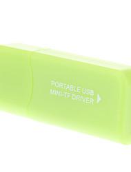 2.0 Micro SD Memory Card Reader USB (verde)