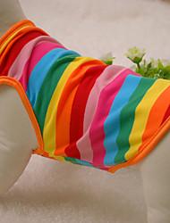 Cat / Dog Shirt / T-Shirt / Clothes/Clothing Rainbow Summer / Spring/Fall Stripe Fashion