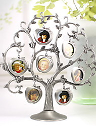 "9.5""H Traditional Style Metal Tree Shape Picture Frame"