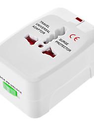 AU EU US UK Universal Travel Power Adapter White